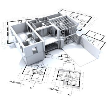 Hus och byggplan i miniformat