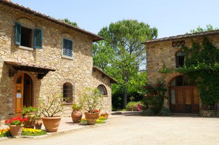 Denna typ av stenhus är typiska för Italien och Toscana